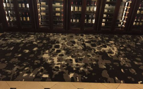 Hand tufted Brown and grey rug powerscourt hotel